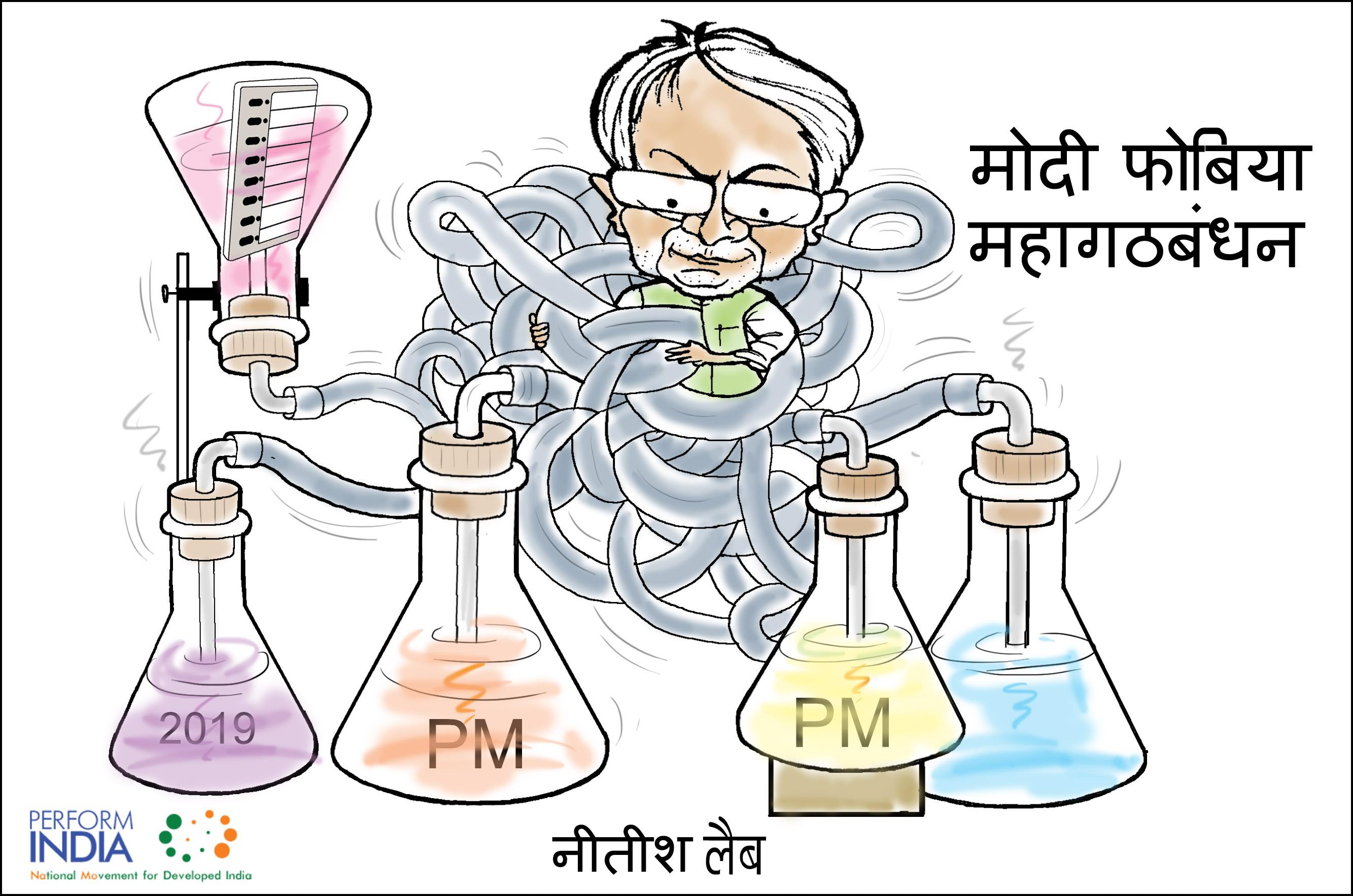mahagathabandhan cartoon के लिए इमेज परिणाम